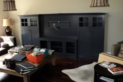 Entertainment unit painted and lacquered
