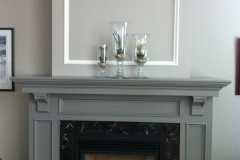A new look, repainted fireplace area.